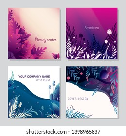 Set of trendy backgrounds for bisness. Can be used as posters, cards, invitations, websites.