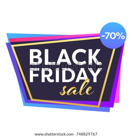 b0b8bedb67 Set of trendy flat geometric vector black friday sale and discount banners