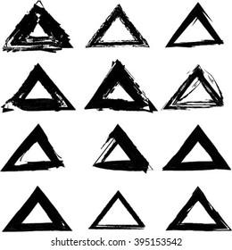 Set of Triangle Shapes.