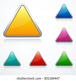 Set of triangle signs