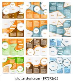 Set of Tri-fold brochure template
