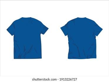set of tshirt mockup vector design