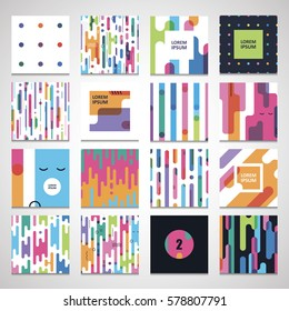 set twelve seamless a pattern templates for modern bright design