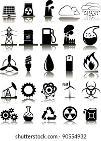 Set of twenty five industrial icons