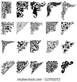 Set Of Twenty One Color Corners. Elements Of Design.