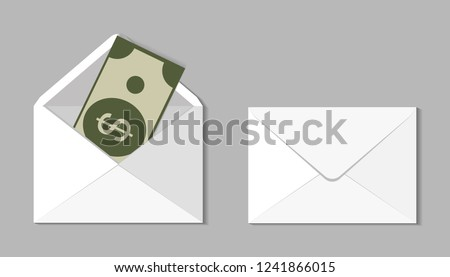 set two blank envelope money envelope stock vector royalty free
