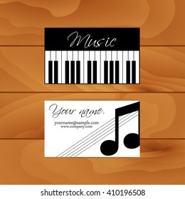 A set of two cards for the musician. Vector.