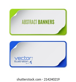 Set of two colorful banners. Vector illustration