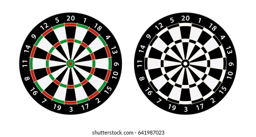 set of two darts board target
