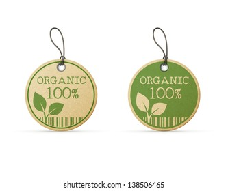 set of two eco labels eps10