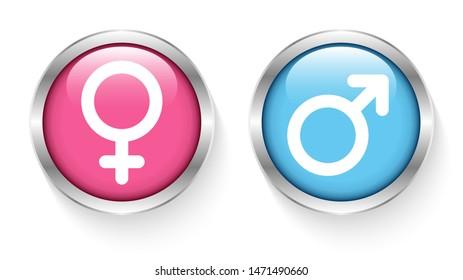 Mars Gay Same Sex Symbole Cufflinks