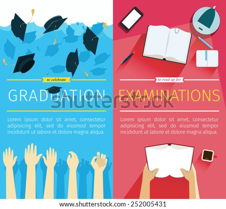 set two vector education banners preparing stock vector royalty