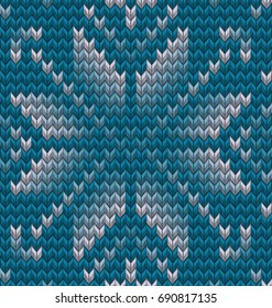 Set of two winter sweater pattern. Christmas Seamless Knitting background. And also includes EPS 10 vector