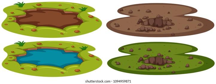 A Set of Underground Hole illustration