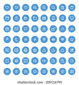 Set of universal icons for web