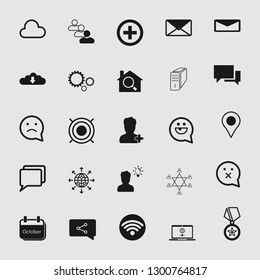 Set of universal and standard social media and network icons.