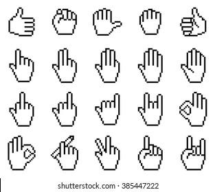 Pixel Hand Images Stock Photos Vectors Shutterstock