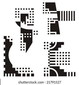 A set of urban design elements, vector series.