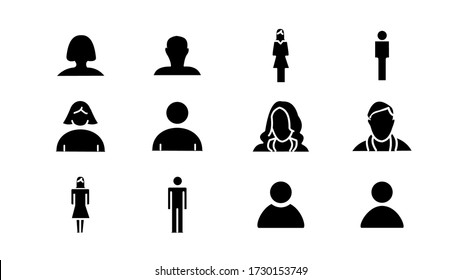 set of user icons.Modern icons collection.vector design