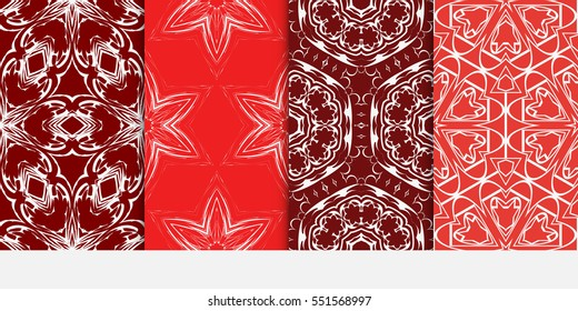 set of Valentine Day romantic vector geometric background. Floral ornament. rose color. for invitation, bridal, wedding, wallpaper