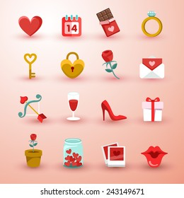 Set of Valentine items