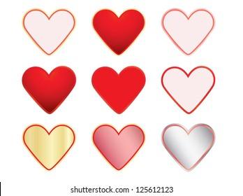 set of valentines vector illustration
