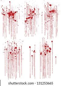 Set of various blood or paint splatters.