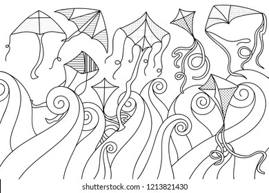 Kite Doodle Images Stock Photos Vectors Shutterstock