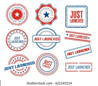 Set of various Just Launched stamps