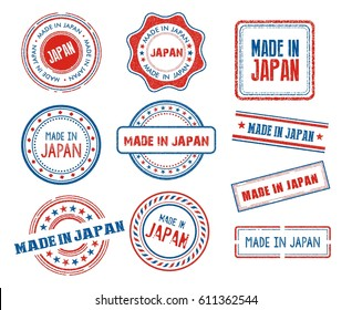 Set of various made in Japan stamps