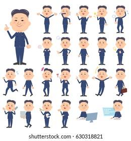 Set of various poses of Kim Jong-un North Korea