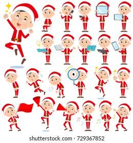 Set of various poses of Santa Claus Costume dad_2