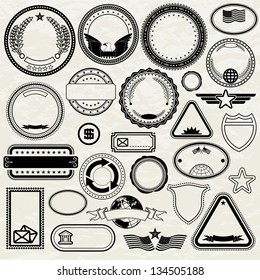Set of Various Stamp Design. Editable Vector Templates