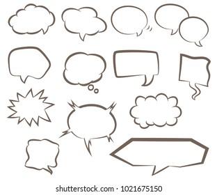 Set of various types of speech bubbles