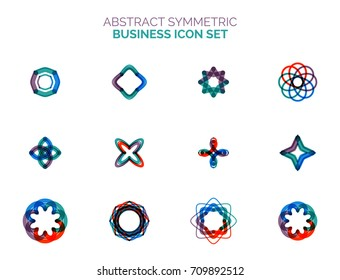 Set of vector abstract shapes, geometric elements