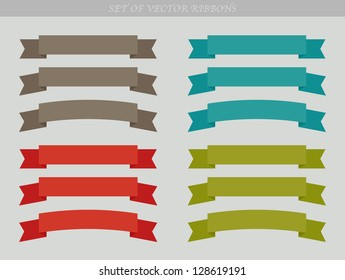 Set of vector ad ribbons - illustration