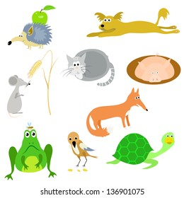 set of vector animals, EPS10