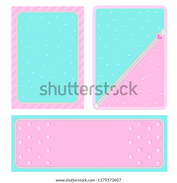 Set Vector Background Hearts Dots Invitation Royalty Free