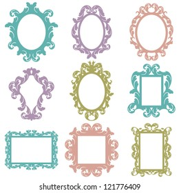 Set of Vector Baroque Frames