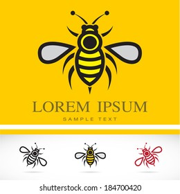 Set of vector bee icons - Illustrations Vectors