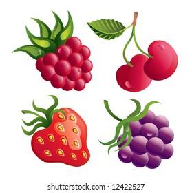 Set of vector berries