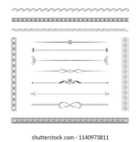 Set of vector borders for design