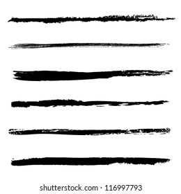 Set of vector brushes