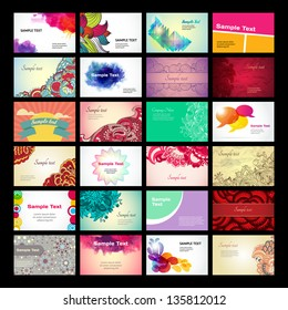 Set of vector business card templates