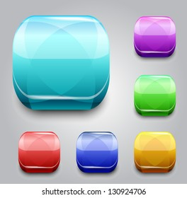 Set of the vector buttons