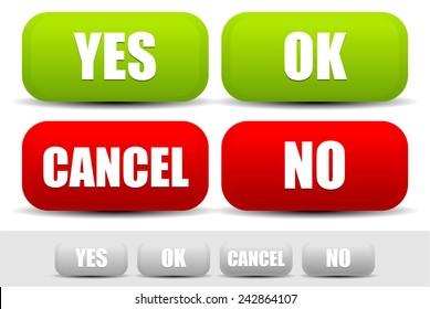 Imágenes, fotos de stock y vectores sobre Yes+no+button