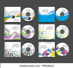 Set of vector cd cover design template design.