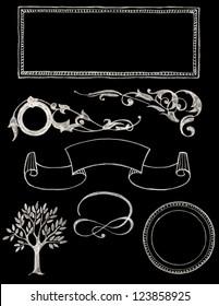 set of vector chalkboard design elements - Chalkboard 1