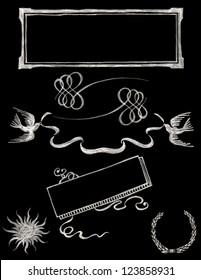 set of vector chalkboard design elements - Chalkboard 2