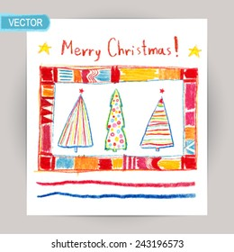 Christmas Kids Drawing Images Stock Photos Vectors Shutterstock